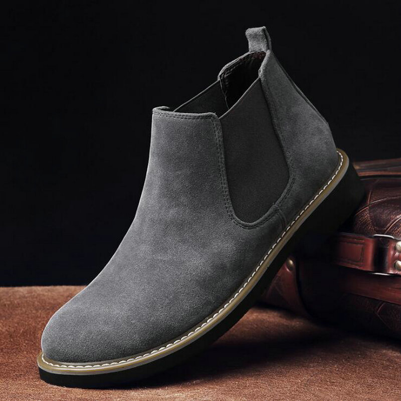 Autumn NEW Martin Boots Breathable Suede Desert Boots Chelsea Boots Men Booties Large Size C22-55