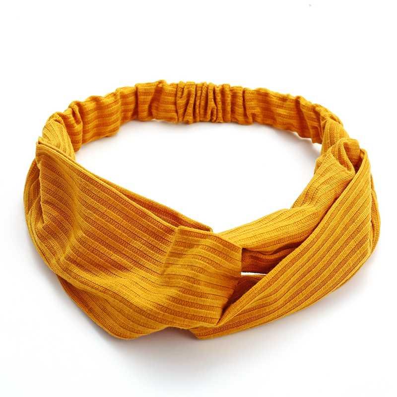 Moda Plaid opaska na głowę Turban elastyczna opaska do włosów joga kwiatowy włosy Scrunchie chusta na głowę Stretch paski kobiety akcesoria do włosów