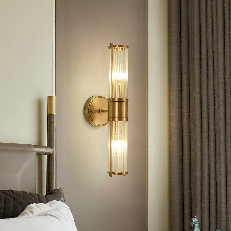Современный медный черный настенный светильник для спальни, прикроватная лампа для гостиной, настенные светильники для прохода, настенный