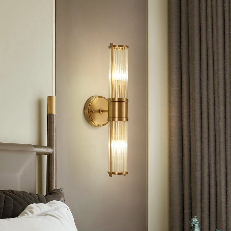 Modern Copper Black Wall Lamp For Bedroom Bedside Lamp Living Room Aisle Wall Lamps Bathroom Wall
