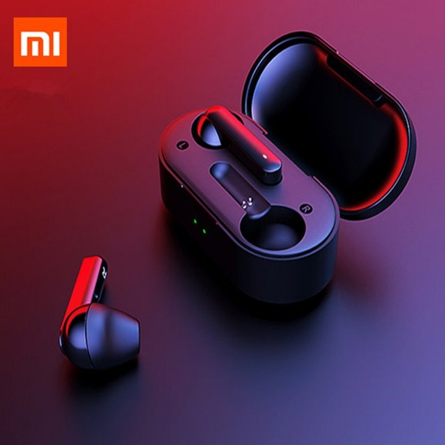 Xiaomi T3 tws指紋タッチワイヤレスヘッドフォンbluetooth V5.0 3Dステレオデュアルマイクイヤホンをキャンセル