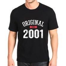 Moda impresso tshirt novo original desde 2001 t-shirt de personalização solto dos homens superiores