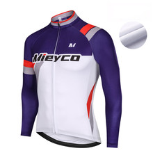 Mieyco Pro Team Cycling Clothing Winter Fleece Jersey Warm Long Sleeve Cycling Shirt MTB Race Cycle Jacket Maillot Ropa Ciclismo winter fleece team netherlands quick dry cycling jersey dutch flag breathable clothing mtb ropa ciclismo bicycle maillot gel