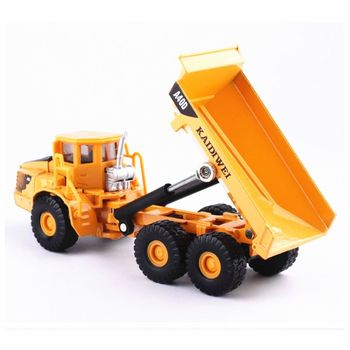 Alloy 1:87 Scale Dump Diecast Construction Vehicle Cars Lorry Toys Model Q6PD image