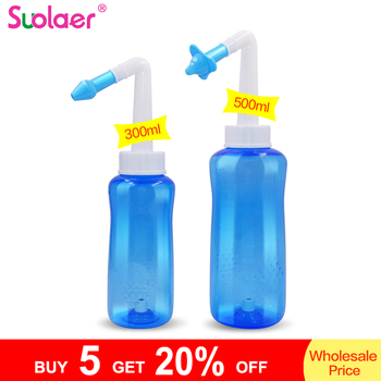 1 Set 300ML/500ML Adults Children Neti Pot Standard Nose Nasal Wash Yoga Detox Sinus Allergies Relief Rinse Nose Cleaner 1