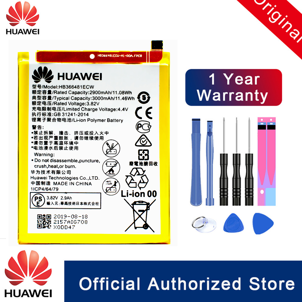 Original HuaWei HB366481ECW Battery For Hua Wei Honor 8 / P20 Lite / P8 Lite 2017 / P9 /  P10 / P9 Lite / G9 / Honor 5C Akku