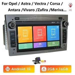 2 Din Android 10 Car NODVD Radio Stereo Player For Opel Astra H G J Vectra Antara Zafira Corsa Vivaro Meriva Veda GPS MirrorLink