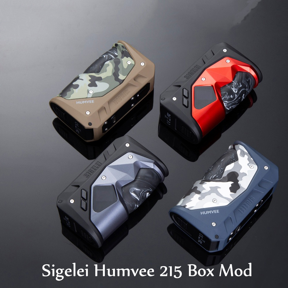 Sigelei Humvee Box MOd Powered By Dual 18650 Electronic Cigarette Vape 215W Mod Fit 510 Thread Tank VS Aegis Legend