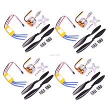 A2212 2212 1000KV/1400KV A2208 1100KV бесщеточный двигатель 30A ESC 1045 пропеллер Quad-Rotor для RC самолета мультикоптера