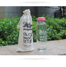 Outdoor Glass Sport Water Bottles Camping Bottle Tour Drinkware Portable Bicycle Solid Transparent Office for