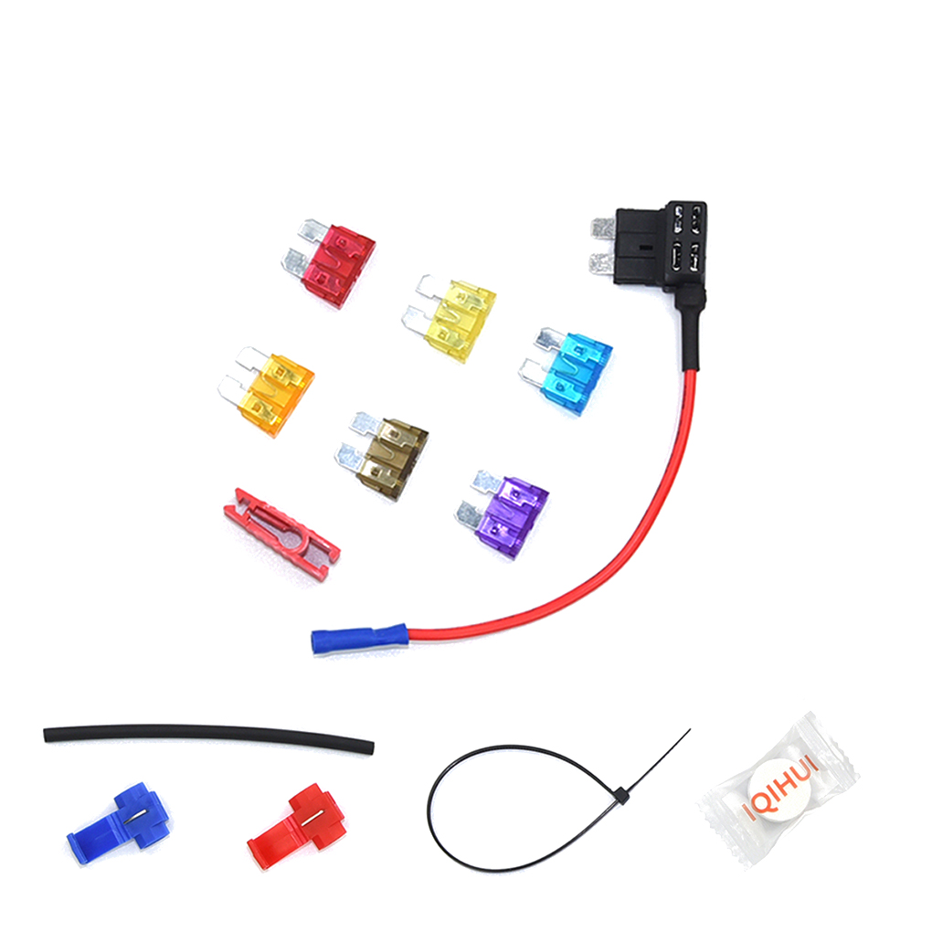 6PCS/Set Small Size Car Fuse Holder Add-a-circuit Fuse TAP Adapter Cigarette Lighter Added Tool Kits
