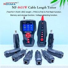 ใหม่ NF 8601W เครื่องทดสอบสายเคเบิลเครือข่ายอเนกประสงค์สาย LCD ความยาว Tester เครื่องทดสอบจุดพักภาษาอังกฤษรุ่น NF_8601W