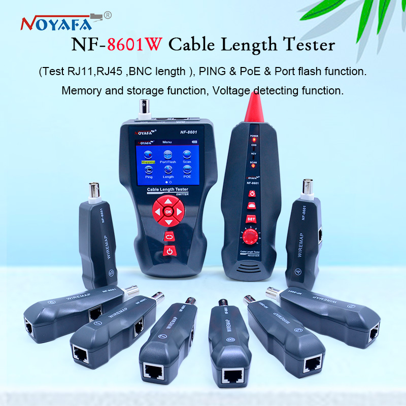 New NF 8601W Multi functional Network Cable Tester LCD Cable length Tester Breakpoint Tester English version NF_8601Wlcd inverter cablecable punchlcd power cable -