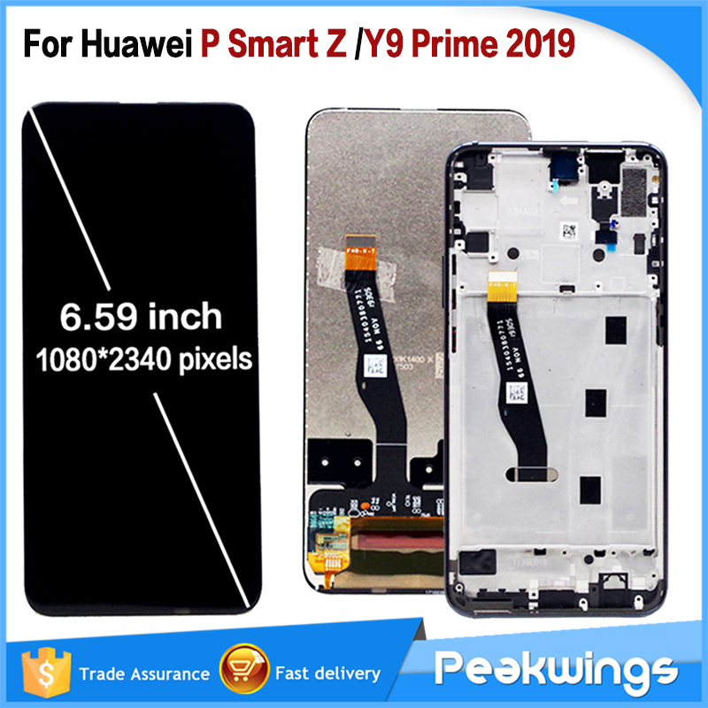 6.59 Inch For Huawei P Smart Z STK-LX1 LCD Display Touch Screen Digitizer Assembly Parts For Huawei Y9 Prime 2019 LCD