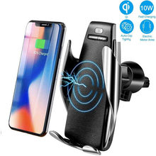 Wireless Car Charger Mount Auto-Clamping Qi 10W 7.5W Fast Charging Car Air Vent Phone Holder For iPhone XR Xs Max 8 Samsung S10(China)