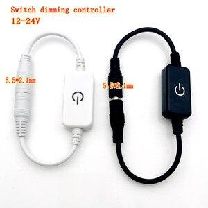 O brilho 3a do interruptor de toque do dimmer da c.c. 12 v-24 v conduziu o dimmer para a única cor conduziu a lâmpada de tira preto/branco
