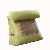 Summer Bedside Cushion Sofa Triangle Big Back Office Rattan Mat Waist Back Cushion Bed Waist Neck Pillow Covers 50C048