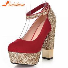 Karinluna/Лидер продаж; Милые женские свадебные туфли лодочки;