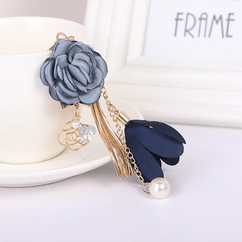 Keychain Chain Pendant Crystal Bag Bow Ring Tassel Jewelry Key Flower Rose Charm
