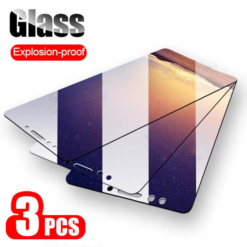 3pcs Tempered Glass For Xiaomi Mi A2 Lite Screen Protector Glass On The For Xiaomi Kisomi Xiomi Mia2 A 2 A2lite Protective Film