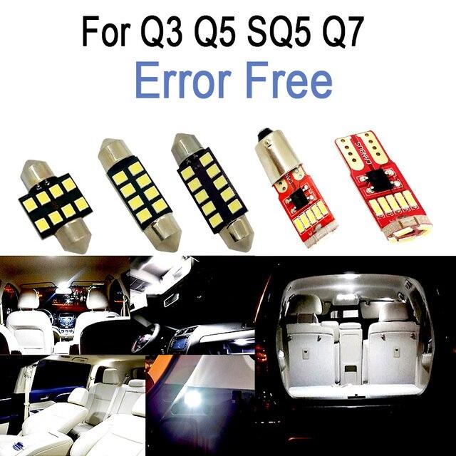 מושלם לבן Canbus שגיאת משלוח פנים LED הנורה כיפת מפת מקורה קריאת אור ערכת לאאודי Q3 Q5 SQ5 Q7