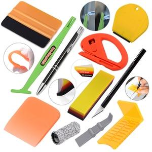 Image 1 - Ehdis kit de ferramentas aplicador vinil filme do carro embrulho borracha rodo vidro janela matiz raspador aquário limpeza adesivo removedor