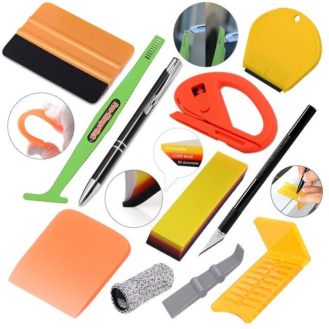 Ehdis kit de ferramentas aplicador vinil filme do carro embrulho borracha rodo vidro janela matiz raspador aquário limpeza adesivo removedor