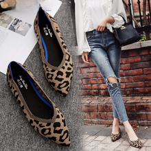 Leopard Shoes Loafers Mocasines Creepers Women Casuales Woman Ladies Feminino Mujer Sapato