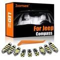 Масштабирусветодиодный ная лампа для Jeep Compass 2007-2020, автомобильная лампа Canbus, Внутренняя купольная лампа для чтения карты светильник комплек...
