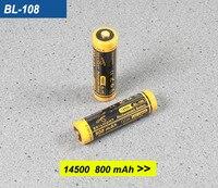 Skilhunt BL-108 3.6V 800mAh 14500 oplaadbare Li-Ion batterij