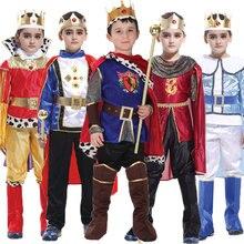 Umorden Purim Carnaval O Rei Príncipe Traje do Dia Das Bruxas para Meninos Das Crianças Dos Miúdos do Menino Fantasia Infantil Conjunto Roupas Cosplay