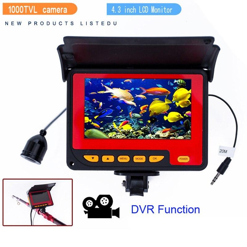 Хит, 3C-20M 1000TVL рыболокатор, подводная камера для подледной рыбалки, 4,3 дюймов, ЖК-монитор, 8 шт., светодиодный, камера ночного видения для рыбалки, EU Pl