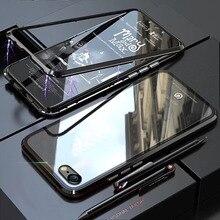 купить YonLinTan i Coque cover Case For apple Iphone 5 5S iphone5 SE 5SE Metal magnetic Frame Hard tempered glass phone Back Covers по цене 259.87 рублей