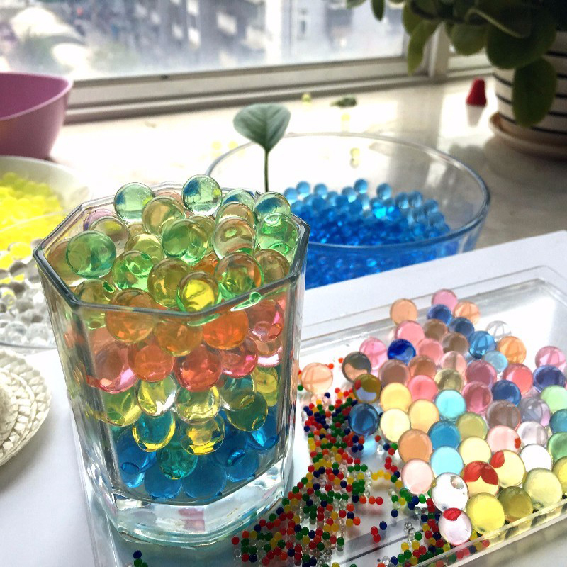 Toys Crystal bullets 13000Pcs/pack 7-8mm Water Guns Pistol Toys Growing Crystal Water Balls Mini Round Soil Water Beads 2