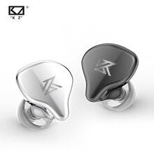 Плотным верхним ворсом KZ S1 S1D наушники вкладыши TWS True Беспроводной Bluetooth 5,0 наушники динамический/гибридные наушники сенсорный Управление Шум шумоподавления Спортивная гарнитура