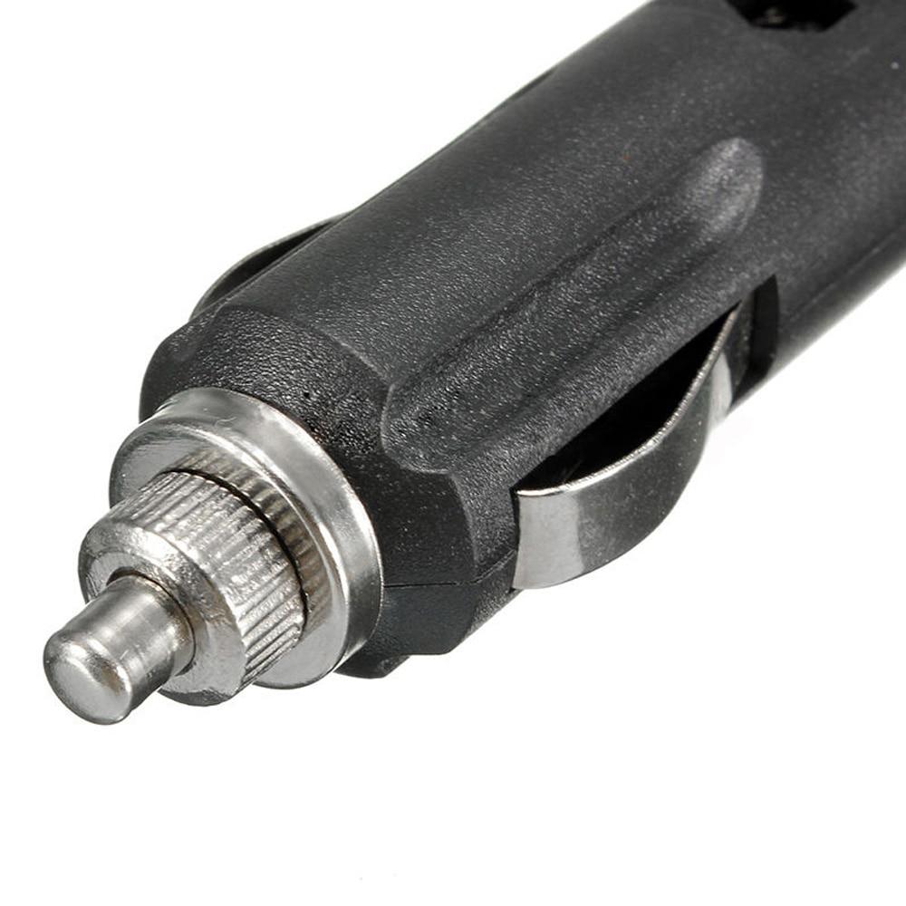 5X 12V Male Car Cigarette Lighter Socket Plug Tool Connector W/ Fuse Red LED Set