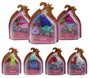 6 Styles Cartoon Trolls Dreamworks Movie Action Figure Toys Poppy Branch Kawaii Trolls Dolls Toys for Children Kids Gifts