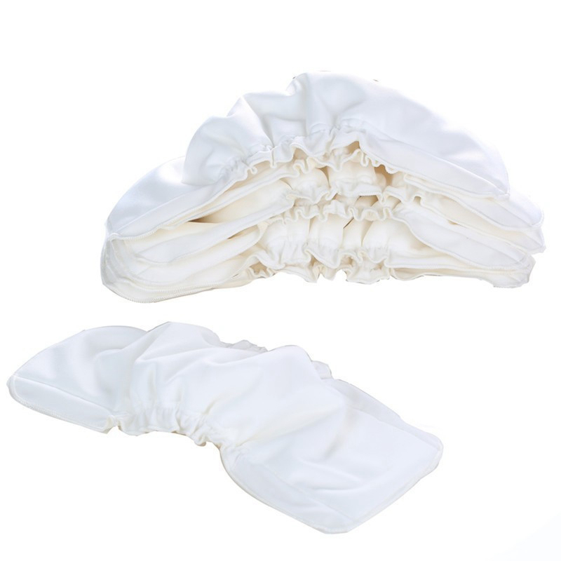 3Pcs Reusable Diaper Inserts Bamboo Cotton Inserts Liners For Baby Diaper Cover 5 Layers Washable Nappies Insert