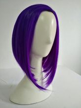 Anime Raven Cosplay Perücken 35cm Bob Lila Kurzen Hitzebeständig Synthetische Haar Perucas Cosplay Perücke + Perücke Kappe
