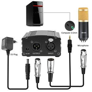 Image 4 - bm 800 Studio Microphone Kits For Computer Condenser Phantom Power Karaoke Microphone Bundle bm800 Pop Filter bm 800 Mic Stand