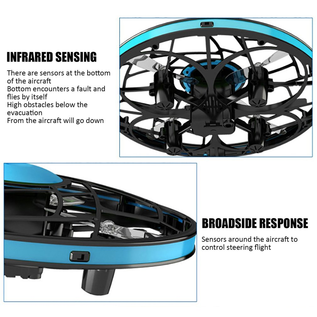 TL954063 UFO Mini Drone Helicopter RC Quadcopter Sensing and Lights Indoor Toy Four axis UFO mini drone in RC Helicopters from Toys Hobbies