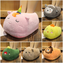 Slippers Unicorn Cat Flamingo Lion Dinosaur Cushion Pig Shoes Cute Plush Toy Stuffed Animals Plushies Toys Kawaii Plushie AP