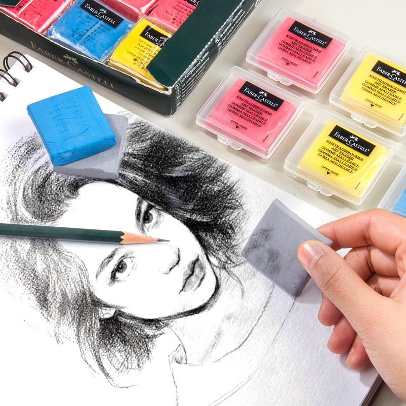 Multicolor Plastic Eraser Soft Art Painting Rubber Pencil Design Sketch Highlight Kneaded Erasers Material Escolar Stationery