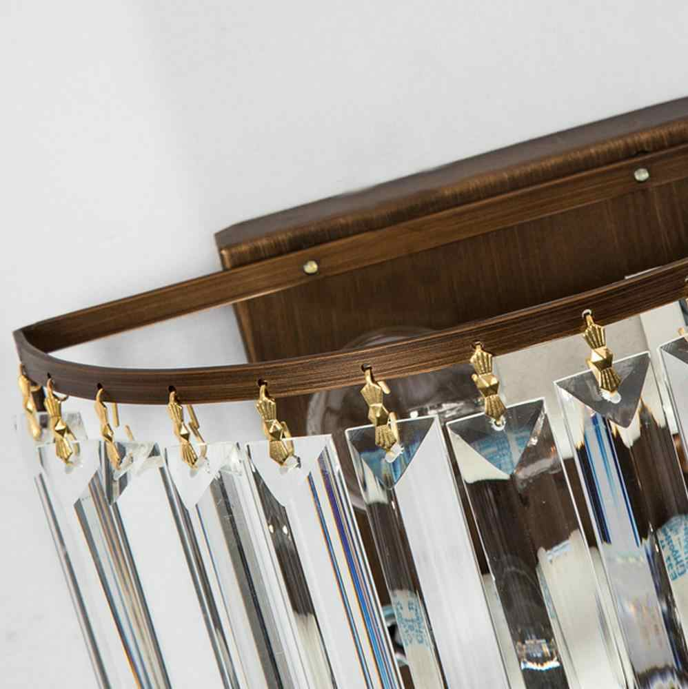 Retro Estilo de Cristal Arandelas de Parede Para Cima Para Baixo Lâmpada de Parede Do Sotão Do Vintage Luzes de Parede Acessórios para Casa de Cabeceira Quarto Escadas Iluminação