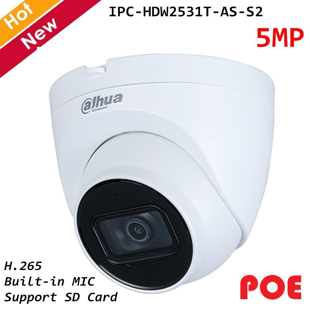 Dahua 5MP Lite IR festbrenn Augapfel IP Kamera 2,8mm 3,6mm Optional Gebaut in MIC Smart H.264 h.265 Wasserdichte IP67