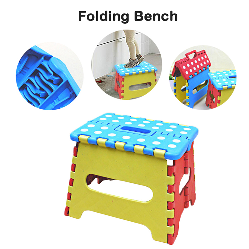 1Pc Brand New Hot Selling Folding Stool Portable Thick Plastic Kids Folding Stool Outdoor Activity Tool Home Traveling Necessity