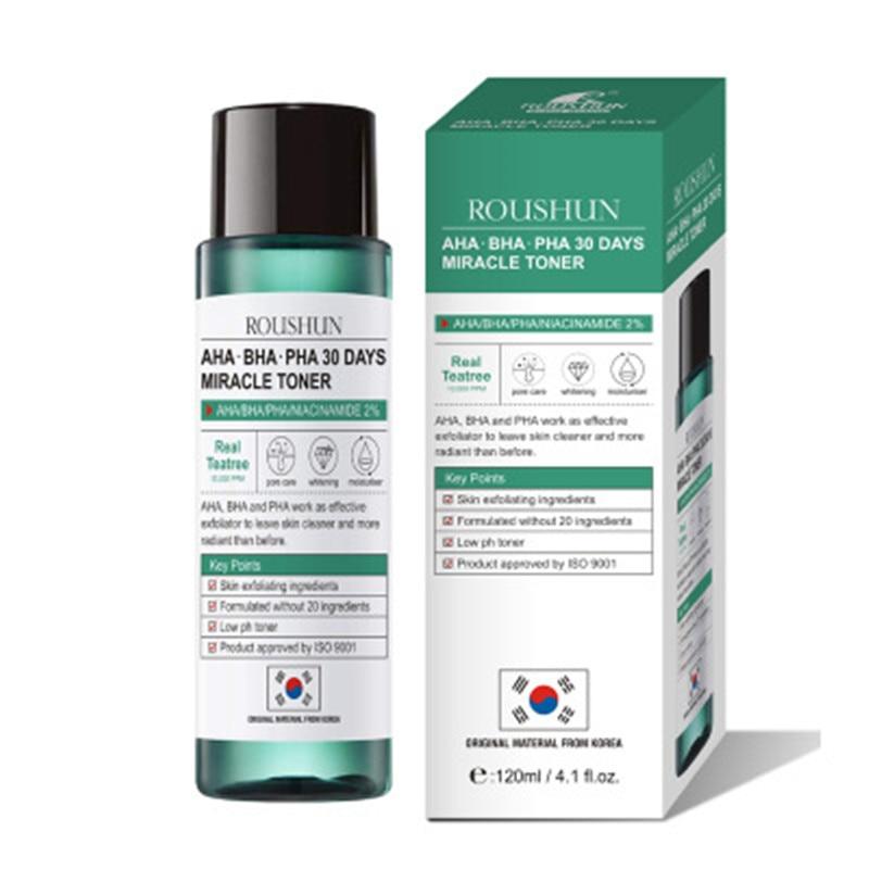 Roushun Miracle Serum Tea Essence Toner 120ml Face Serum Acne Treatment  Scar Blackhead Remover Facial Skin Whitening Lotion