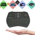 Беспроводная клавиатура с подсветкой 2 4 ГГц с сенсорной панелью Air mouse  ручной пульт дистанционного управления
