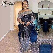 Abiye Arabisch Dubai Frauen Kleid Meerjungfrau Abendkleider 2020 Lange Abend Party Kleider Robe De Soiree Pailletten Prom Kleider