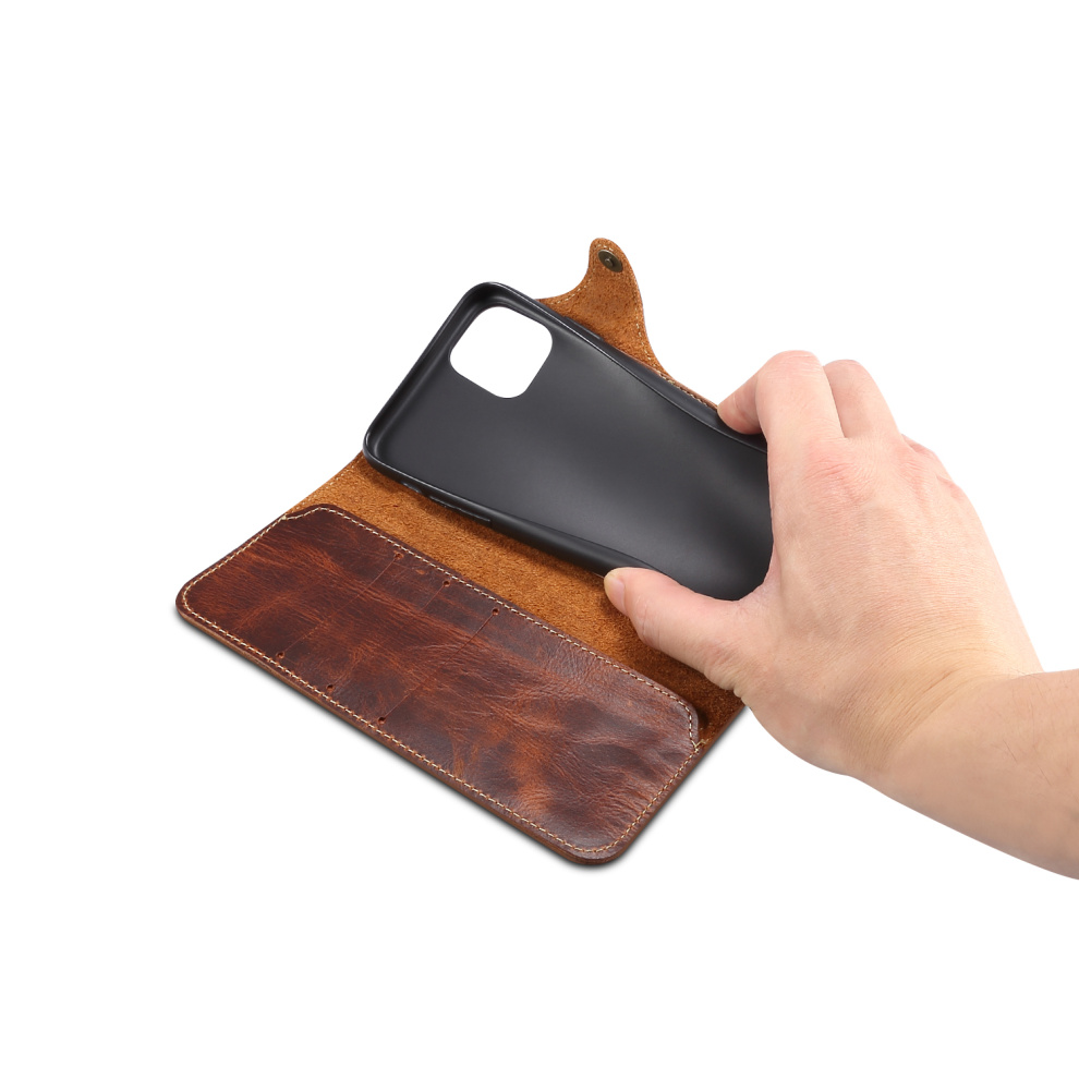 Durable Genuine Leather Wallet Case for iPhone 11/11 Pro/11 Pro Max 12